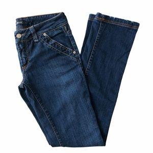VERSACE Straight Leg Dark Wash Blue Jeans 28